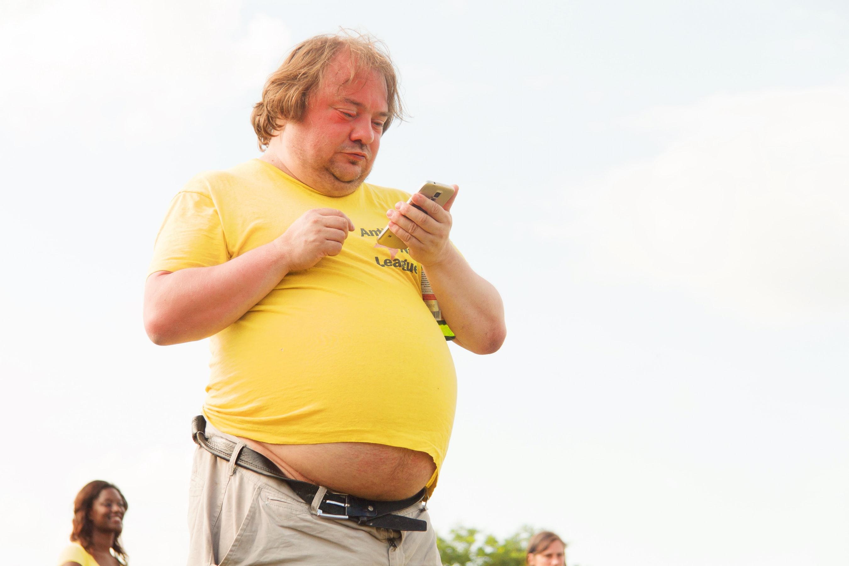 太っている人
